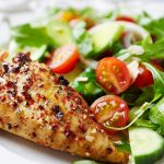 Grilled Chicken Fillet with Green Salad Recipe