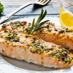 Roasted Salmon with Garlic & Herbs Recipe